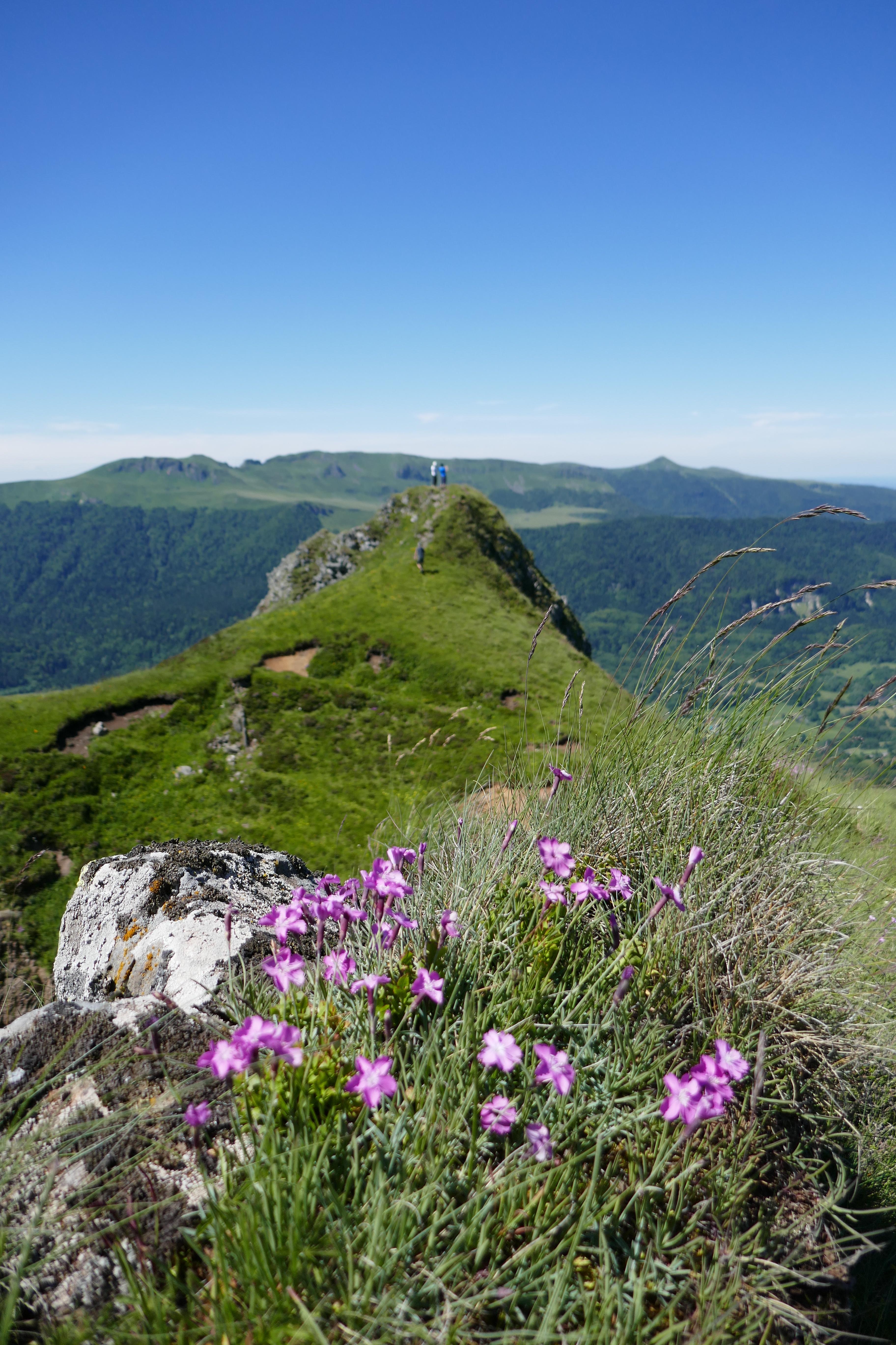 Rocher de l'Aygue GR400 Cantal