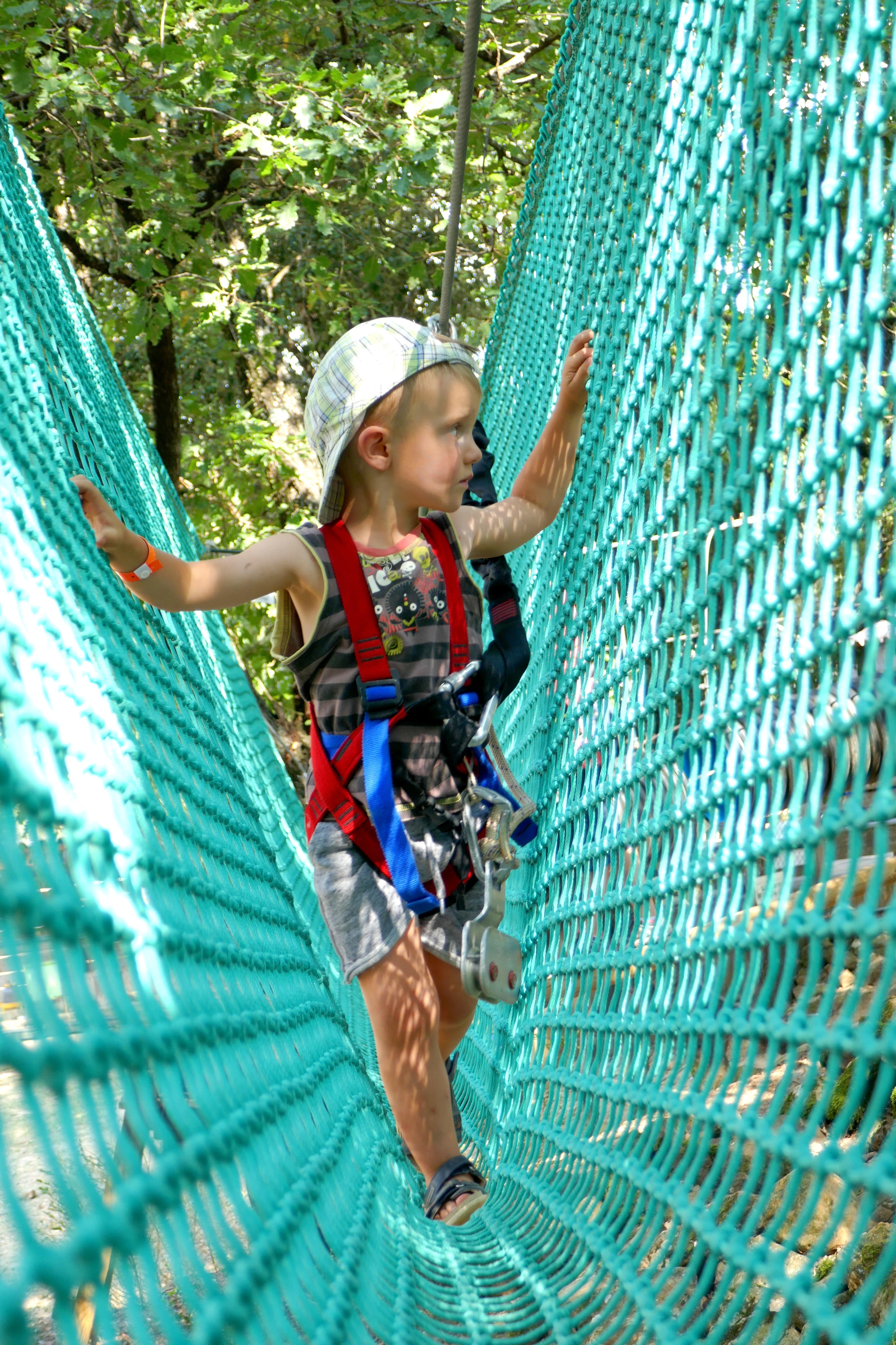 Parc et ferme Abracadabranche Thoiras Cévennes Tourisme Visite en famille blog