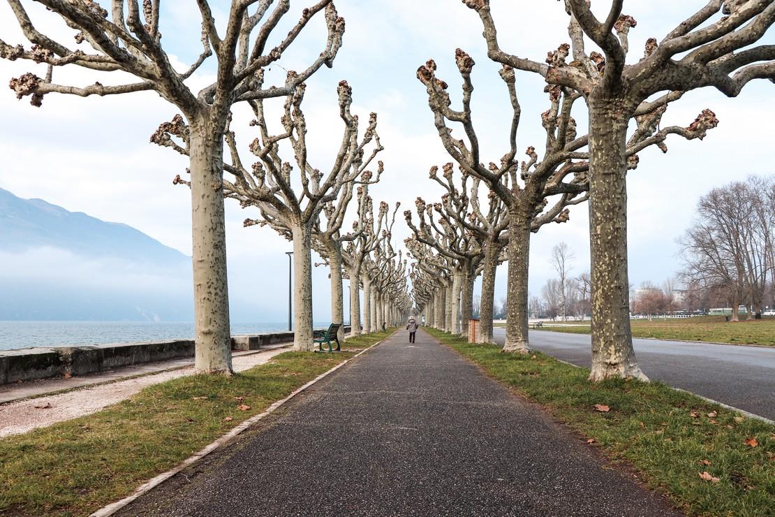 l'esplanade d'Aix les Bains