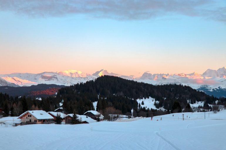 Praz de Lys vue sur le Mont Blanc blog De Beaux Lents demains