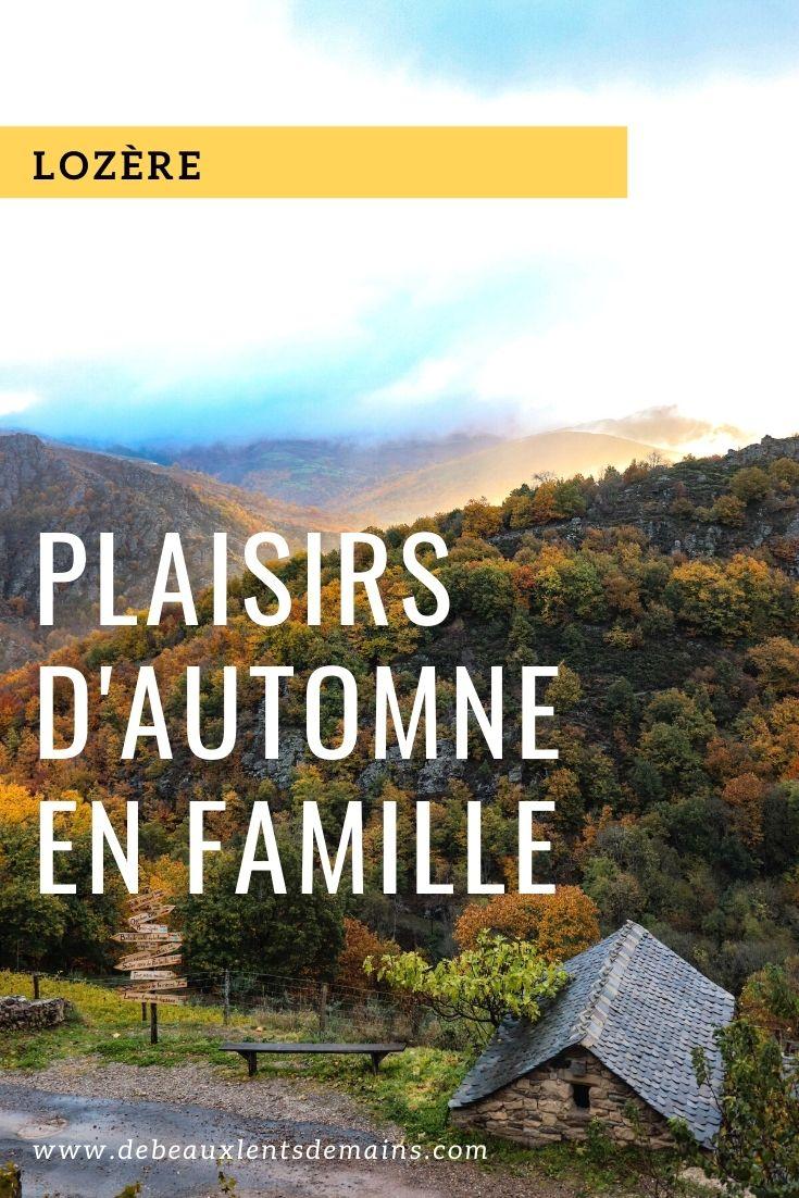 Lozère plaisirs de l'automne en famille