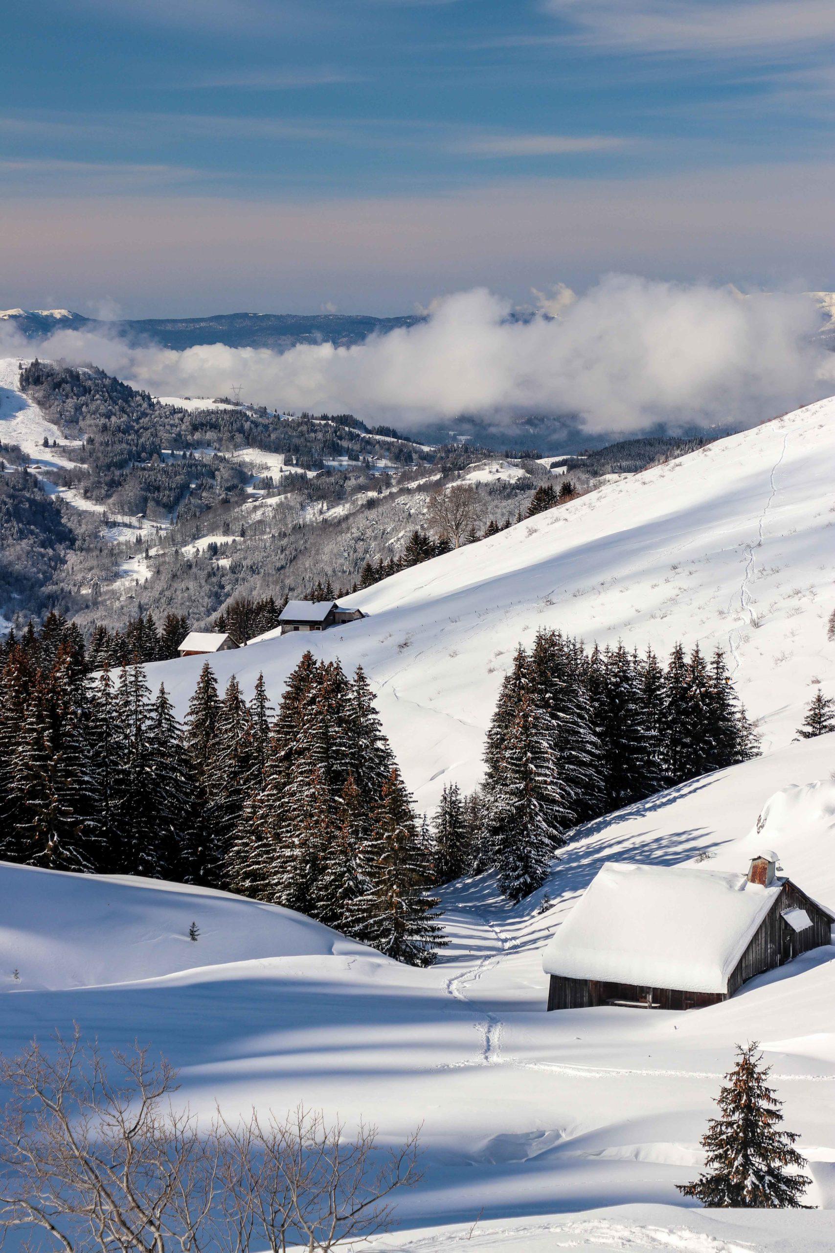 rando raquettes Praz de Lys - Sommand - alpage de la Charmette