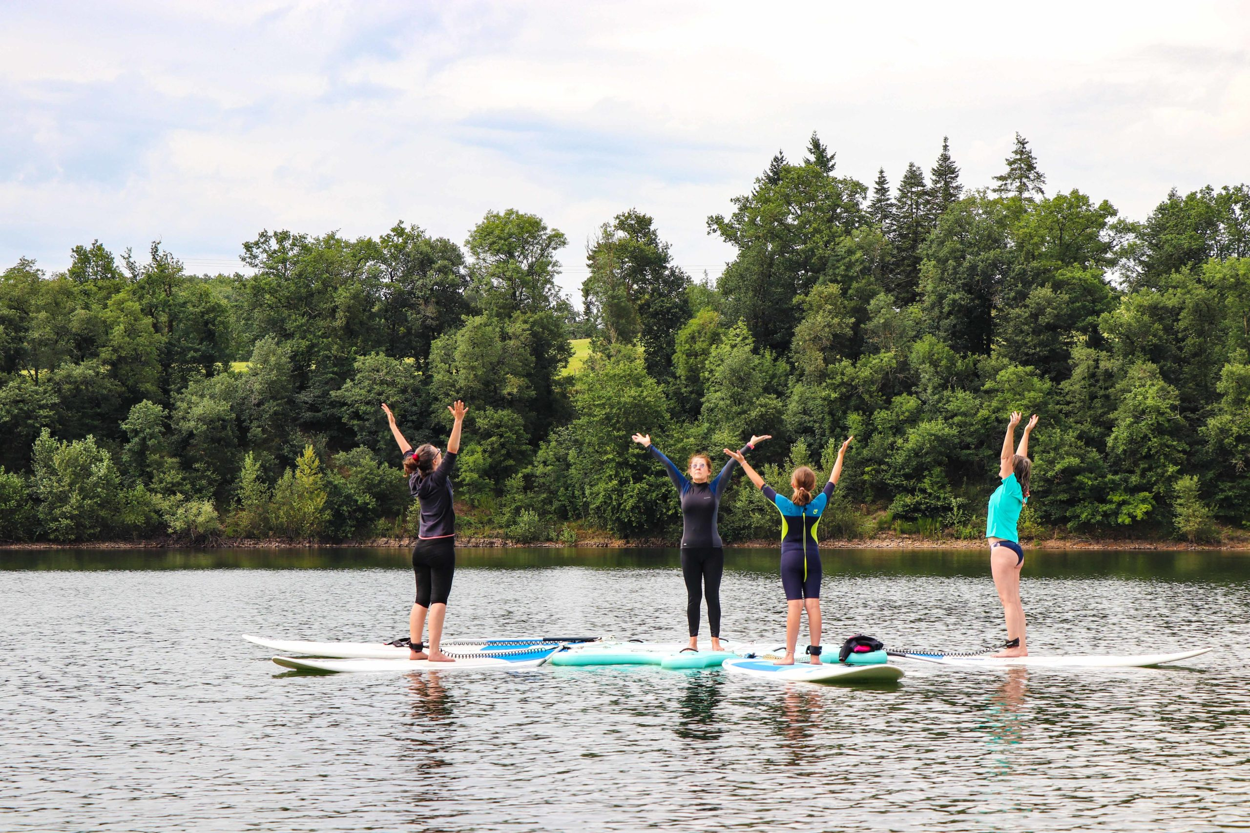 lac de la Roucarié - yoga paddle